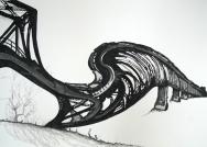 Bridges II, 2016, drawing