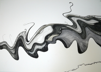 Bridges III, 2016, drawing