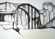 Bridges IV, 2016, drawing