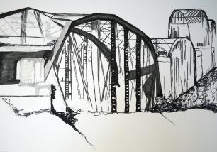 Bridges IV, 2016, drawing