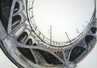 Bridges VI, 2016, drawing